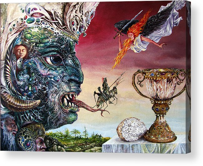 Surrealism Acrylic Print featuring the painting Revelation 20 by Otto Rapp
