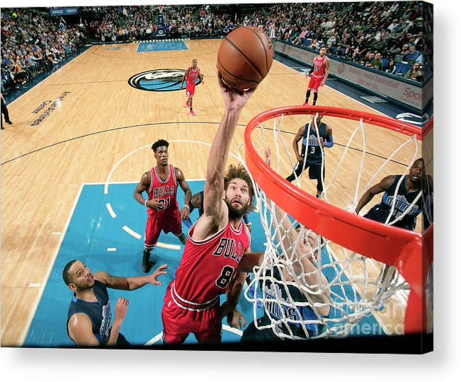 Nba Pro Basketball Acrylic Print featuring the photograph Robin Lopez by Glenn James