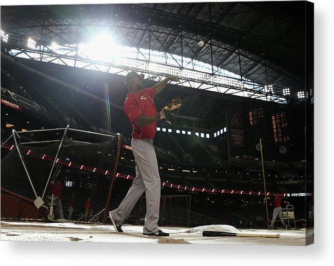 National League Baseball Acrylic Print featuring the photograph Roger Bernadina by Christian Petersen