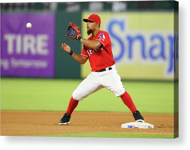 Double Play Acrylic Print featuring the photograph Rougned Odor by R. Yeatts