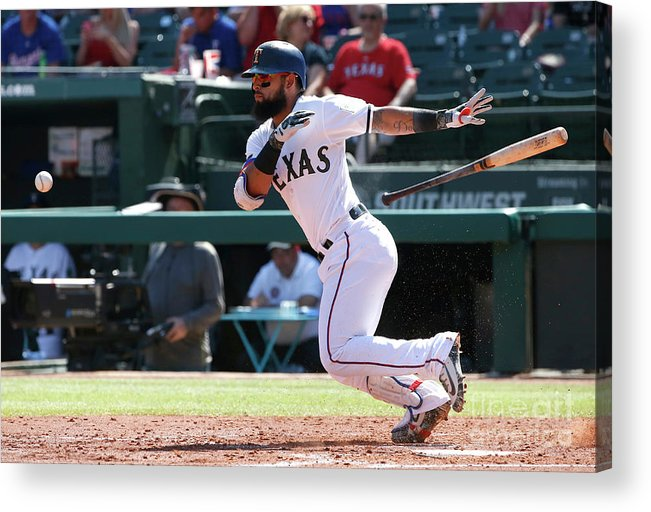 People Acrylic Print featuring the photograph Rougned Odor by Ron Jenkins
