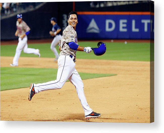 Celebration Acrylic Print featuring the photograph Ruben Tejada by Jim Mcisaac