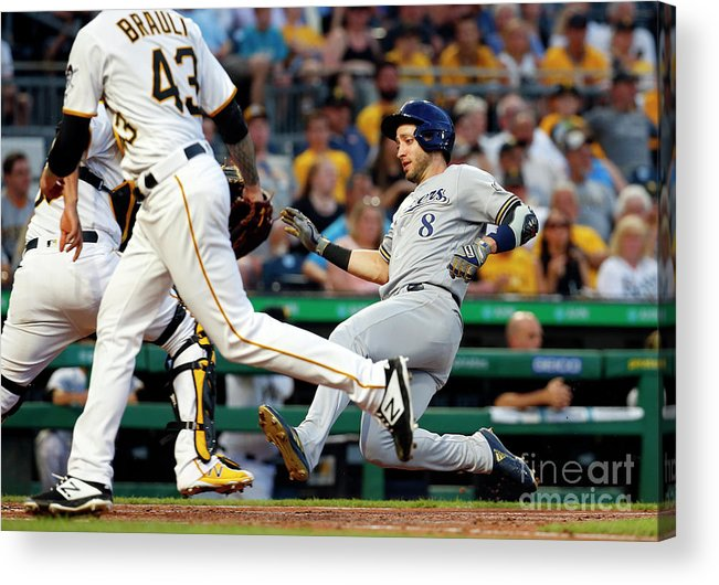 People Acrylic Print featuring the photograph Ryan Braun by Justin K. Aller
