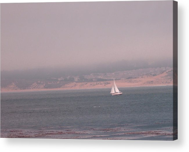 Sailing Solo Acrylic Print featuring the photograph Sailing Solo by Pharris Art