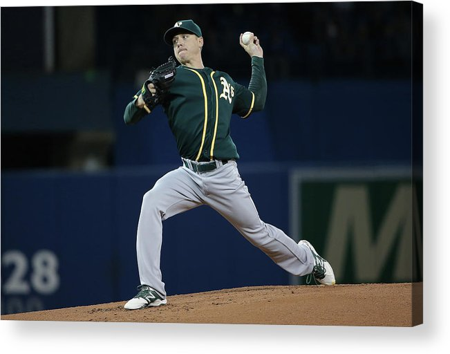 American League Baseball Acrylic Print featuring the photograph Scott Kazmir by Tom Szczerbowski