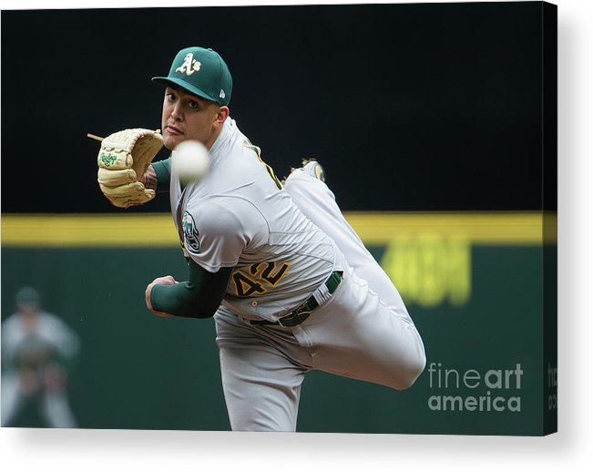 Second Inning Acrylic Print featuring the photograph Sean Manaea by Lindsey Wasson