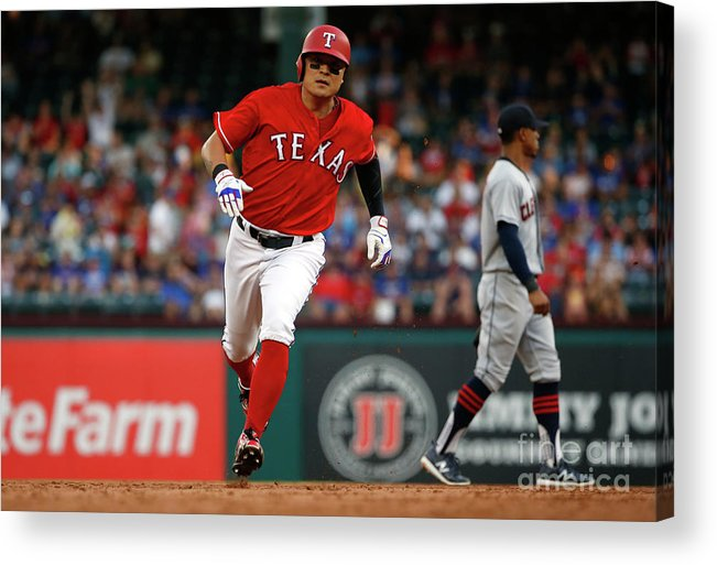Second Inning Acrylic Print featuring the photograph Shin-soo Choo by Ron Jenkins