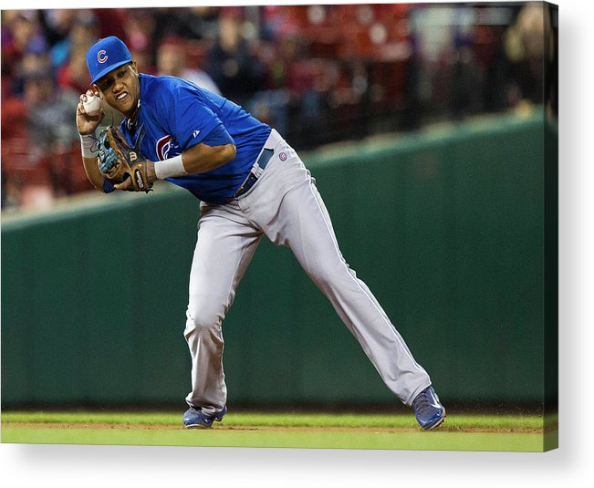 2nd Base Acrylic Print featuring the photograph Starlin Castro by David Welker