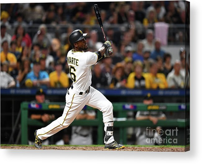 People Acrylic Print featuring the photograph Starling Marte by Joe Sargent
