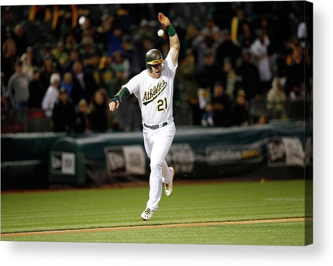 Ninth Inning Acrylic Print featuring the photograph Stephen Vogt by Ezra Shaw