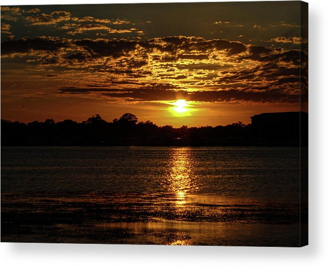 Sunset Acrylic Print featuring the photograph The Sunset over the Lake by Daniel Cornell