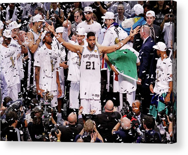 Playoffs Acrylic Print featuring the photograph Tim Duncan by Chris Covatta