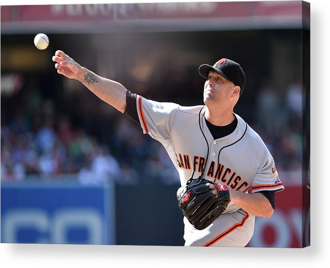 California Acrylic Print featuring the photograph Tim Hudson by Denis Poroy