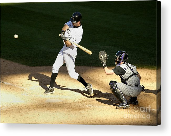 People Acrylic Print featuring the photograph Todd Helton, Rod Barajas, and John Patterson by Brian Bahr