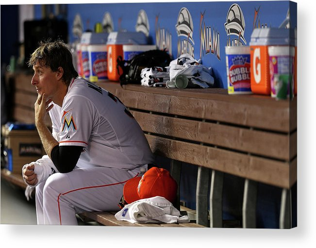 American League Baseball Acrylic Print featuring the photograph Tom Koehler by Mike Ehrmann