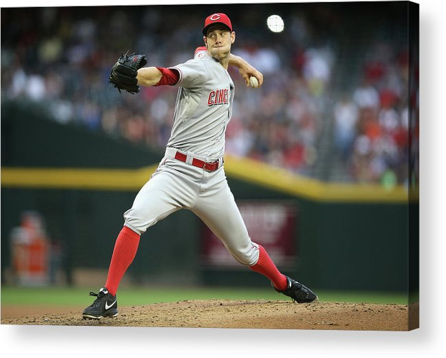 Baseball Pitcher Acrylic Print featuring the photograph Tony Cingrani by Christian Petersen