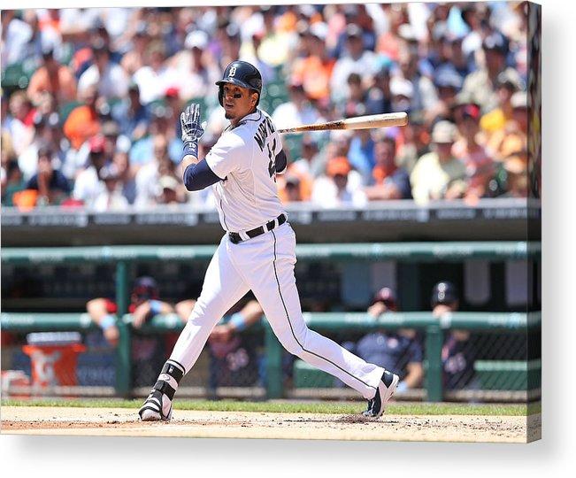 American League Baseball Acrylic Print featuring the photograph Victor Martinez by Leon Halip