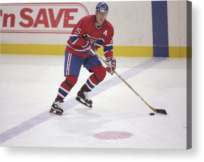 National Hockey League Acrylic Print featuring the photograph Vincent Damphousse by Glenn Cratty