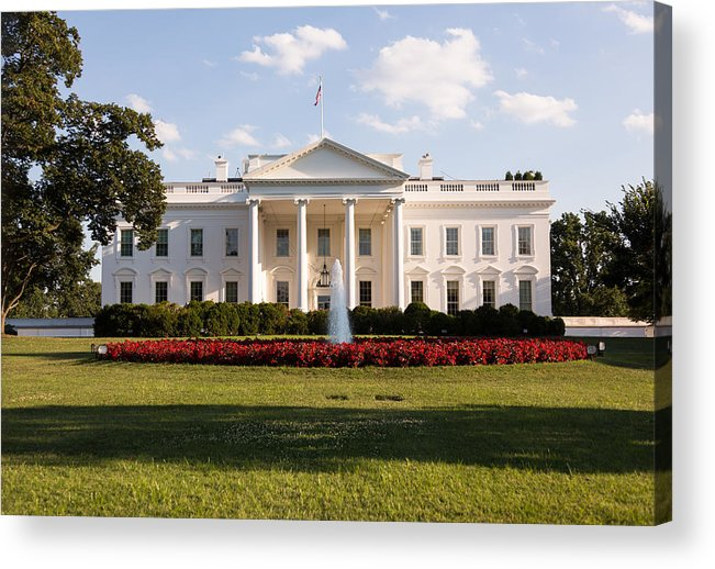 Architectural Column Acrylic Print featuring the photograph White House Washington DC by BackyardProduction
