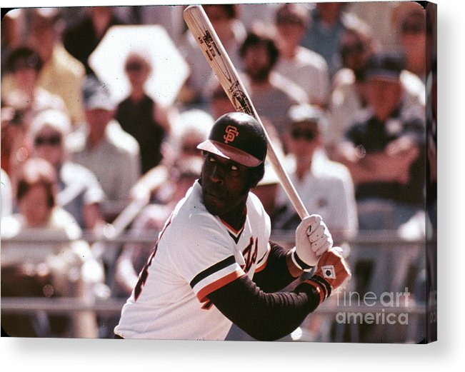 Candlestick Park Acrylic Print featuring the photograph Willie Mccovey by Mlb Photos