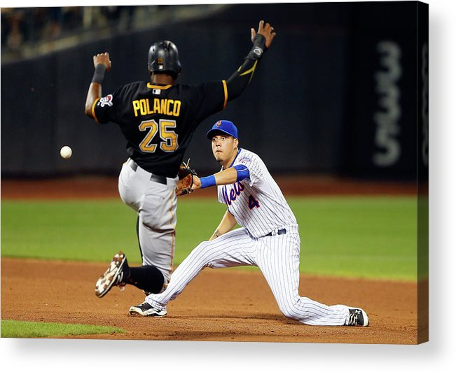 Double Play Acrylic Print featuring the photograph Wilmer Flores and Gregory Polanco by Jim Mcisaac