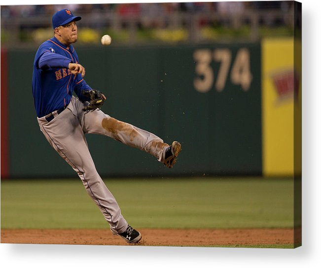 Second Inning Acrylic Print featuring the photograph Wilmer Flores by Mitchell Leff