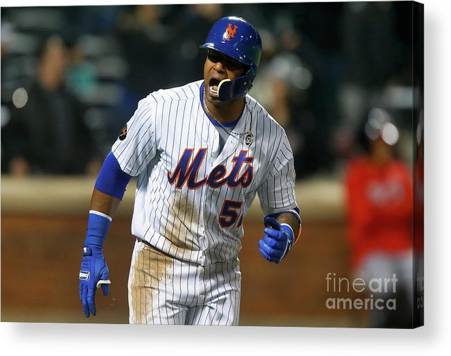 Yoenis Cespedes Acrylic Print featuring the photograph Yoenis Cespedes by Jim Mcisaac