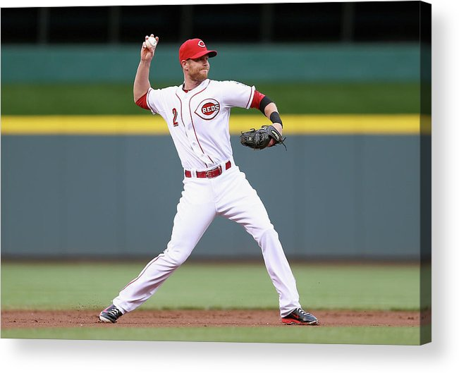 Great American Ball Park Acrylic Print featuring the photograph Zack Cozart by Andy Lyons