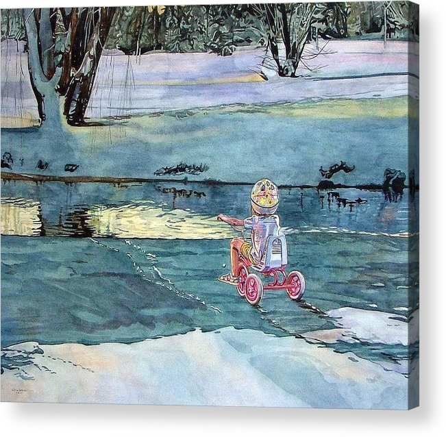 Children Acrylic Print featuring the painting Twilight by Valerie Patterson