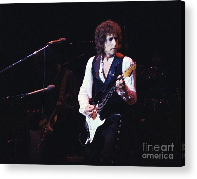 Bob Dylan Acrylic Print featuring the photograph Bob Dylan 1978 by Chris Walter