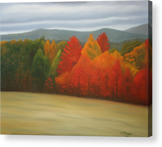 Landscape Acrylic Print featuring the painting White Mountain Highway by Stephen Degan