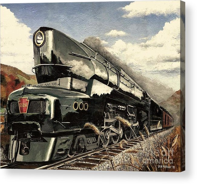 Pennsylvania Railroad Acrylic Print featuring the painting Showin Off by David Mittner