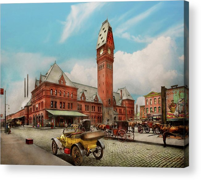 City - Chicago Ill - Dearborn Station 1910 by Mike Savad