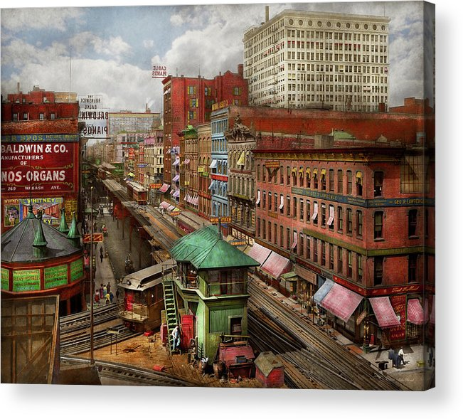City - Chicago - Piano Row 1907 by Mike Savad