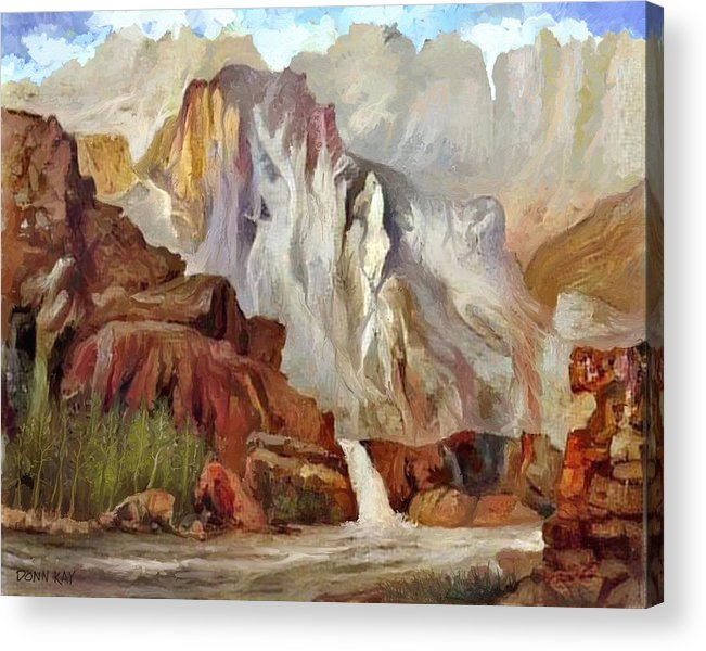 Colorado Front Range Acrylic Print featuring the painting Colorado by Donn Kay