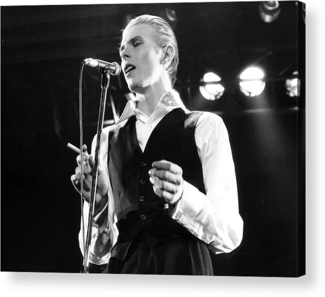 David Bowie Acrylic Print featuring the photograph David Bowie 1976 #3 by Chris Walter