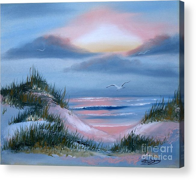 Beach Acrylic Print featuring the painting Daybreak by Lora Duguay