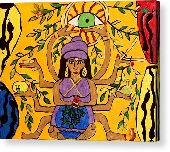 Mind Acrylic Print featuring the painting Minds Eye by Betty J Roberts