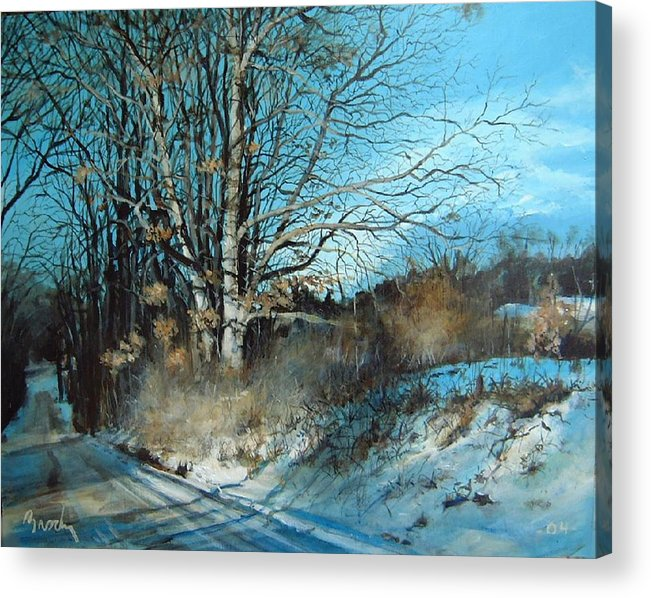 Landscape Acrylic Print featuring the painting The Calling by William Brody
