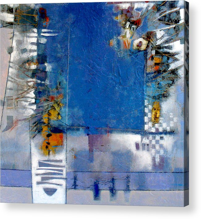 Still Life Acrylic Print featuring the digital art Blue Kitchen Table by Dale Witherow