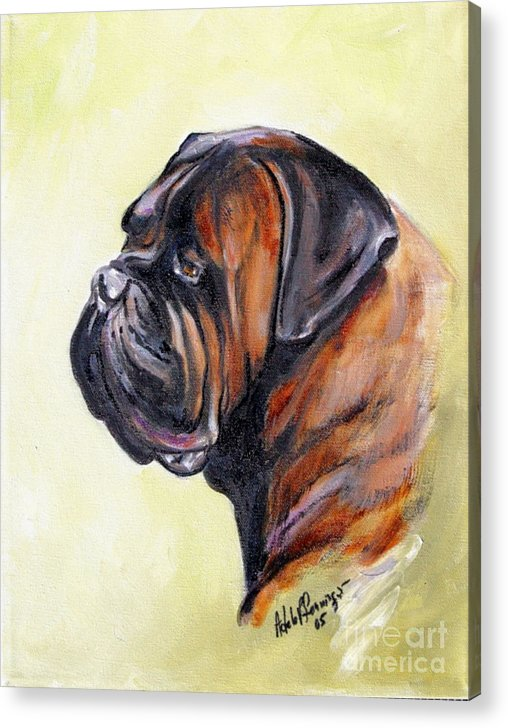 Dog Acrylic Print featuring the painting Smitty by Adele Pfenninger