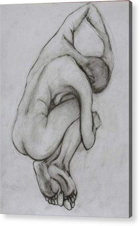 Acrylic Print featuring the drawing Figure 1 by Goy Tiezar