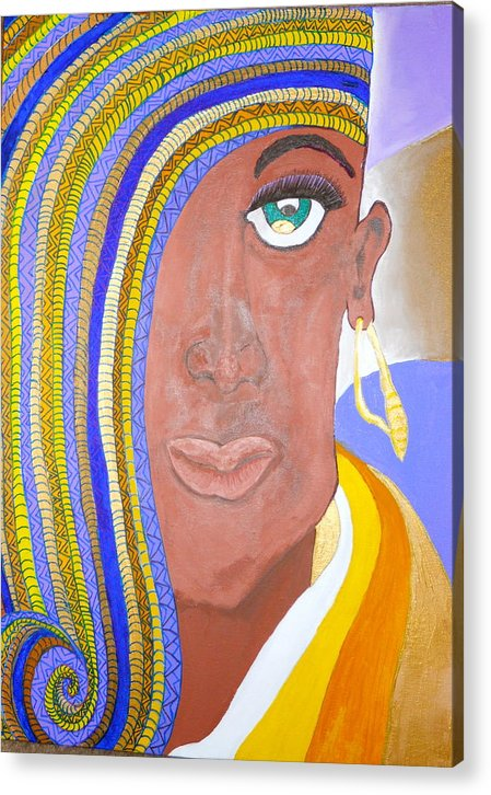 Ethnic Imagery Acrylic Print featuring the painting Rachael by Lynda Lamb