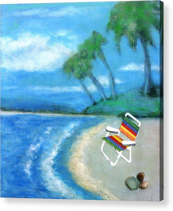 Beach Acrylic Print featuring the painting Three Beaches B by Mary Ann Leitch