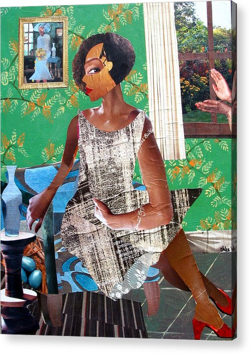 Women Acrylic Print featuring the mixed media Elizabeth's Window by Candace Hunter