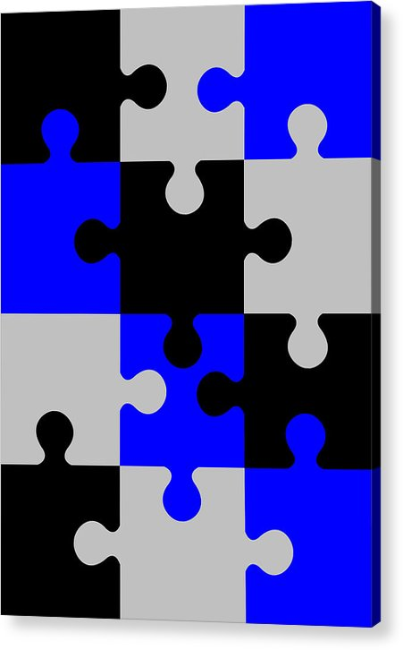Puzzle Acrylic Print featuring the digital art Puzzle by Asbjorn Lonvig