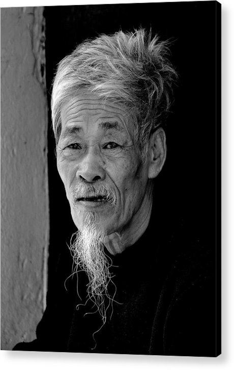 Vietnam Acrylic Print featuring the photograph Vietnamese Village Elder by Randy Cummings
