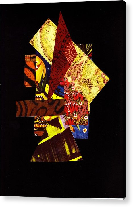 Abstract Acrylic Print featuring the mixed media Randomized Quilt Concepts by Bee Jay