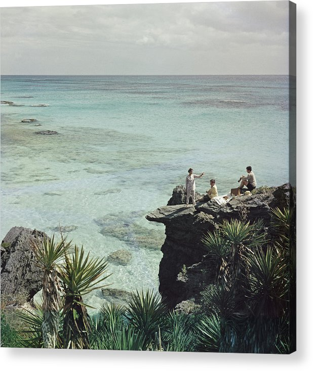People Acrylic Print featuring the photograph A Nice Spot For Lunch by Slim Aarons