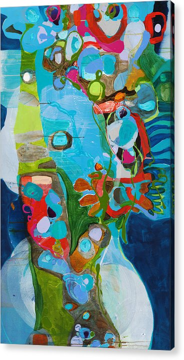 Abstract Acrylic Print featuring the painting El Arbol by Claire Desjardins
